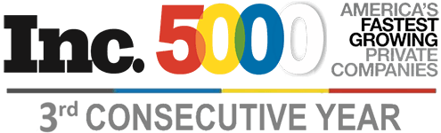 Inc. 5000 - America's Fastest Growing Private Companies 3rd Consecutive year