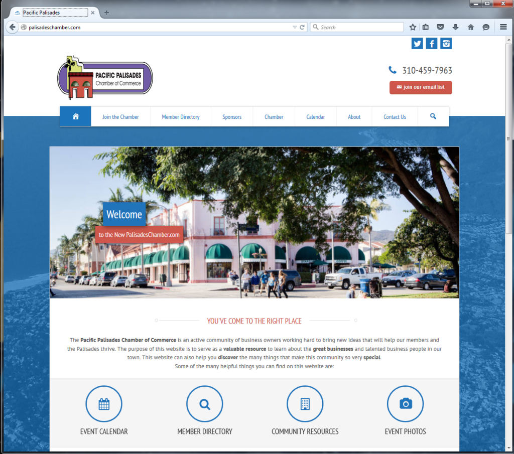 Pacific Palisades Chamber Meets Member Needs with New Website