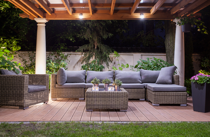 Outdoor lighting ads elegance to your outdoor living areas